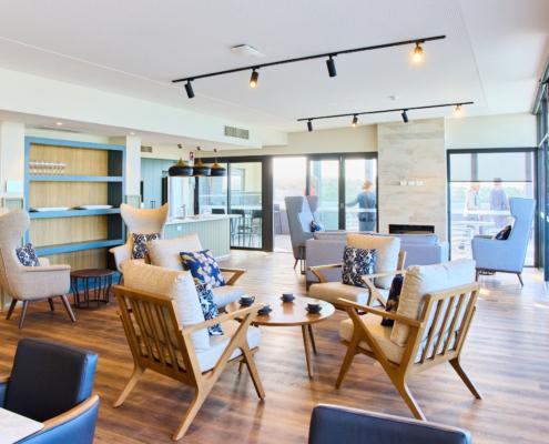Stylish communal lounge